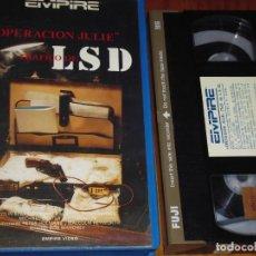 Cine: OPERACION JULIE . LSD - VHS. Lote 164793138