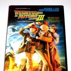 Cine: REGRESO AL FUTURO III (3) (1990) - ROBERT ZEMECKIS MICHAEL J. FOX CHRISTOPHER LLOYD VHS 1ª EDICIÓN. Lote 164872082