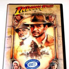Cine: INDIANA JONES Y LA ULTIMA CRUZADA (1989) - STEVEN SPIELBERG HARRISON FORD SEAN CONNERY VHS 1ª EDIC.. Lote 164872910