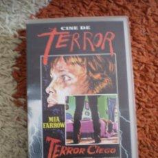 Cine: VHS TERROR. TERROR CIEGO.. Lote 165306230