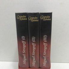 Cine: 3 VHS TRILOGÍA GRANDES RELATOS - MIGUEL STROGOFF. Lote 165690770