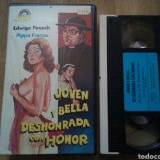 Cine: JOVEN Y BELLA DESHONRADA CON HONOR VHS EDWIGE FENECH. Lote 165753370