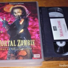 Cine: MORTAL ZOMBIE . TERROR - VHS EDICION CAJA GRANDE VIDEOCLUB. Lote 166256414