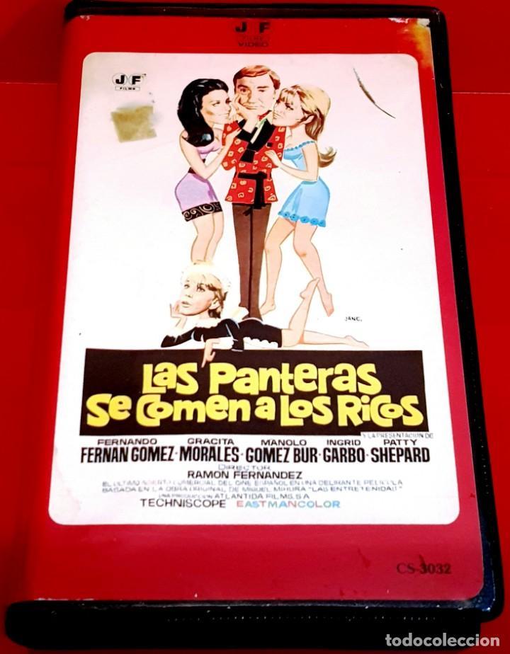LAS PANTERAS SE COMEN A LOS RICOS (1969) - FERNANDO FERNAN GOMEZ- JOSE FRADE- MUY ESCASA (Cine - Películas - VHS)