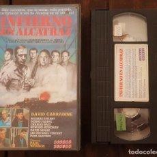 Cine: INFIERNO EN ALCATRAZ - PAUL WENKOS - DAVID CARRADINE , RICHARD DYSART - RECORD 1987. Lote 166408074