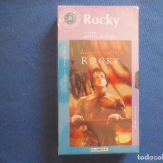 Cine: VHS 72 - ROCKY UNA PELÍCULA DE JOHN G. AVILDSEN CON SYLVESTER STALLONE / NUEVA Y PRECINTADA. Lote 167264064