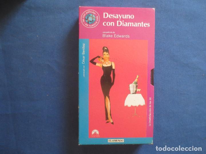 VHS 80 - DESAYUNO CON DIAMANTES UNA PELÍCULA DE BLAKE EDWARDS CON AUDREY HEPBURN (Cine - Películas - VHS)