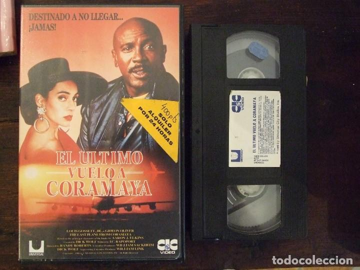 EL ULTIMO VUELO A CORAMAYA - RANDY ROBERTS - LOUIS GOSSETT , GIDEON OLIVER - CIC 1990 (Cine - Películas - VHS)