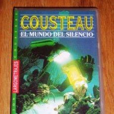Cine: COUSTEAU : EL MUNDO DEL SILENCIO (COLECCIÓN COUSTEAU : LARGOMETRAJES) [VHS] / DIRECTOR: JACQUES YVES. Lote 167670596