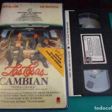 Cine: LAS COSAS CAMBIAN - DAVID MAMET - DOON AMECHE , JOE MANTEGNA , ROBERT PROSKY - RCA 1989. Lote 180178892
