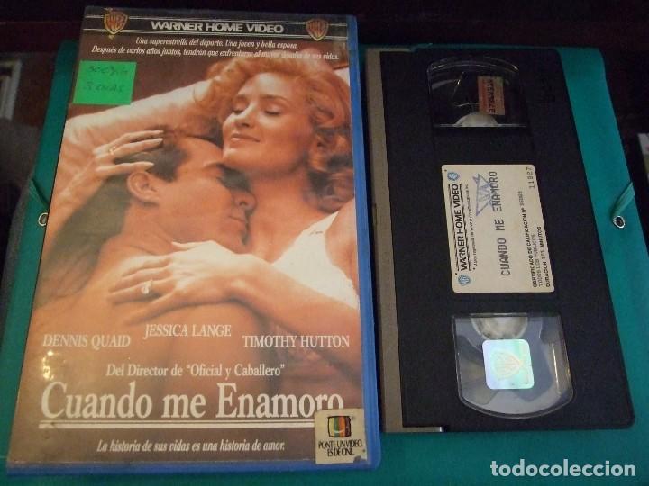 CUANDO ME ENAMORO - TAYLOR HACKFORD - DENNIS QUAID , JESSICA LANGE - WARNER 1988 (Cine - Películas - VHS)