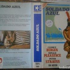 Cine: ¡¡SOLO CARATULA¡¡ EDICCION VIDEO CLUB..SOLDADO AZUL. Lote 168257488