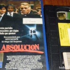 Cine: ABSOLUCION - VHS - PEDIDO MINIMO 6 EUROS. Lote 168677308