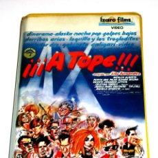 Cine: A TOPE (1983) - RAMÓN FERNÁNDEZ DINARAMA ALASKA NACHA POP GOLPES BAJOS DERRIBOS ARIAS VHS. Lote 169938169