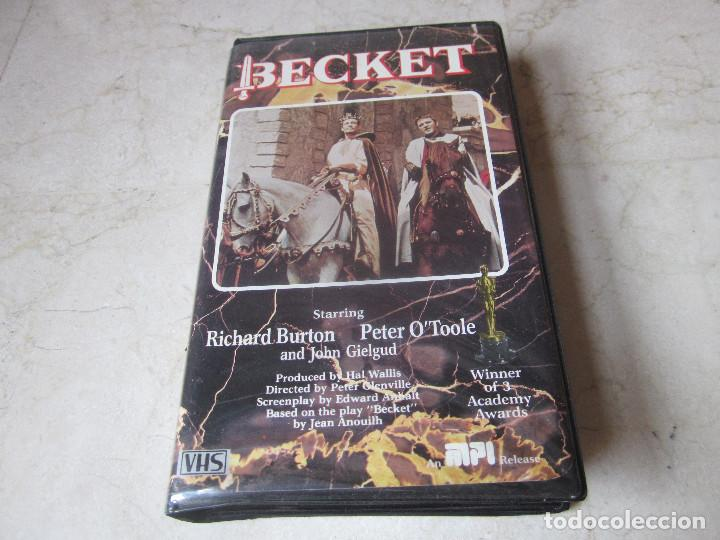 Cine: RICHARD BURTON & PETER O´TOOLE - BECKET VHS - MPI HOME VIDEO - V.O. INGLÉS - Foto 1 - 194348297