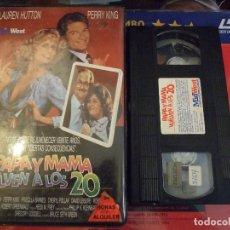 Cine: PAPA Y MAMA VUELVEN A LOS 20 - BRUCE GREEN - LAUREN HUTTON , PERRY KING - RECORD 1989. Lote 170118076