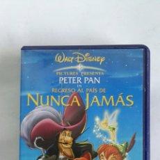 Cine: PETER PAN REGRESO AL PAÍS DE NUNCA JAMÁS VHS. Lote 170486420
