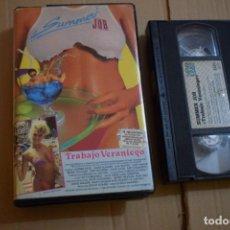 Cine: SUMMER JOB (TRABAJO VERANIEGO) VHS COMEDIA 80S. Lote 170980784