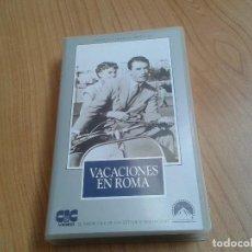 Cine: VACACIOENES EN ROMA -- WILLIAM WYLER -- GREGORY PECK, AUDREY HERPBURN -- VHS. Lote 171044453