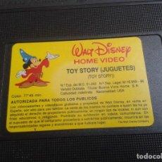 Cine: TOY STORY -- WALT DISNEY -- PIXAR -- JUGUETES -- VHS ( CARÁTULA DE MONSTRUOS, S.A. ). Lote 171044929