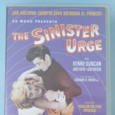 Cine: THE SINISTER URGE - ED WOOD - VHS. Lote 171120404