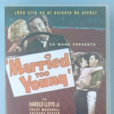 Cine: MARRIED TOO YOUNG - ED WOOD - VHS. Lote 171121330