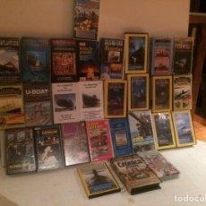 Cine: VHS DOCUMENTALES DE SUBMARINOS. Lote 171178419