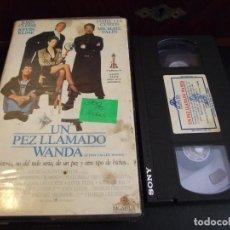 Cine: UN PEZ LLAMADO WANDA - CHARLES CRICHTON - KEVIN KLINE , JAMIE LEE CURTIS - VIDEOMAN 1988. Lote 180457240