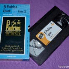 Cine: CINTA VIDEO VHS. EL PADRINO. EDICIÓN ÉPICA. PARTE 2. EL MUNDO.. Lote 171287310