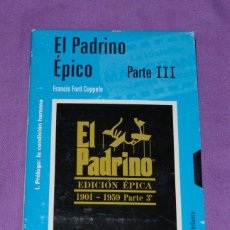 Cine: CINTA VIDEO VHS. EL PADRINO. EDICIÓN ÉPICA. PARTE 3. EL MUNDO.. Lote 171287344