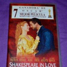 Cine: CINTA VIDEO VHS. SHAKESPEARE IN LOVE. UNIVERSAL.. Lote 171288107