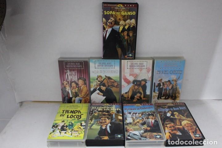 LOTE DE 9 VHS, HERMANOS MARX (Cine - Películas - VHS)