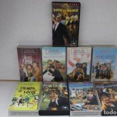 Cine: LOTE DE 9 VHS, HERMANOS MARX. Lote 171347705