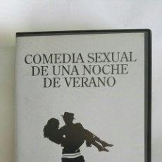 Cine: COMEDIA SEXUAL DE UNA NOCHE DE VERANO WOODY ALLEN VHS. Lote 171463073