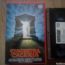 Cine: SINIESTRA CACERÍA IVS VHS TERROR. Lote 171597054