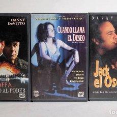 Cine: 3 PELÍCULAS VHS PROMOCIONALES DE FOX. HOFFA, UN PULSO AL PODER. CUANDO LLAMA EL DESEO, JACK EL OSO. Lote 172022408