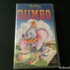 Cine: VHS VIDEO DUMBO WALT DISNEY. Lote 173107965