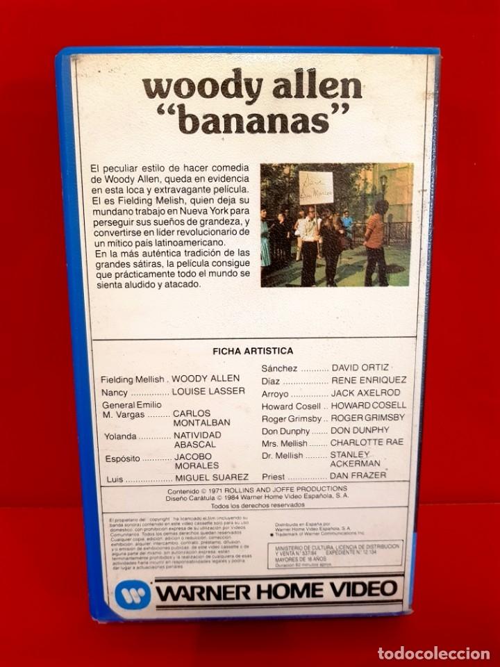 Cine: BANANAS (1971) - WOODY ALLEN - WARNER 1ª EDICIÓN - Foto 2 - 173515258