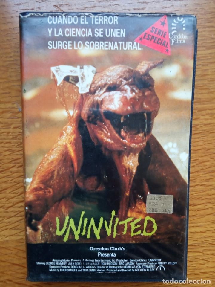 UNINVITED TERROR ÚNICA EN TC (Cine - Películas - VHS)