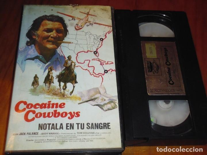 COCAINE COWBOYS . NOTALA EN TU SANGRE . JACK PALANCE - VHS (Cine - Películas - VHS)