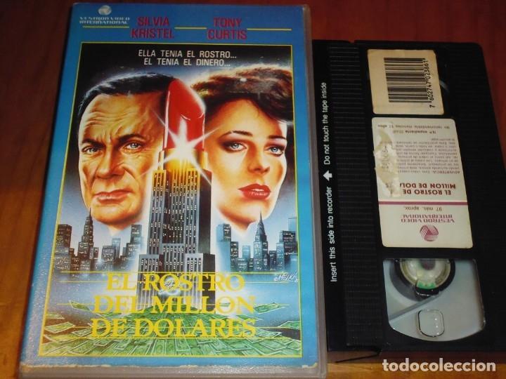 EL ROSTRO DEL MILLON DE DOLARES . SILVIA KRISTEL , TONY CURTIS - VHS - PEDIDO MINIMO 6 EUROS (Cine - Películas - VHS)