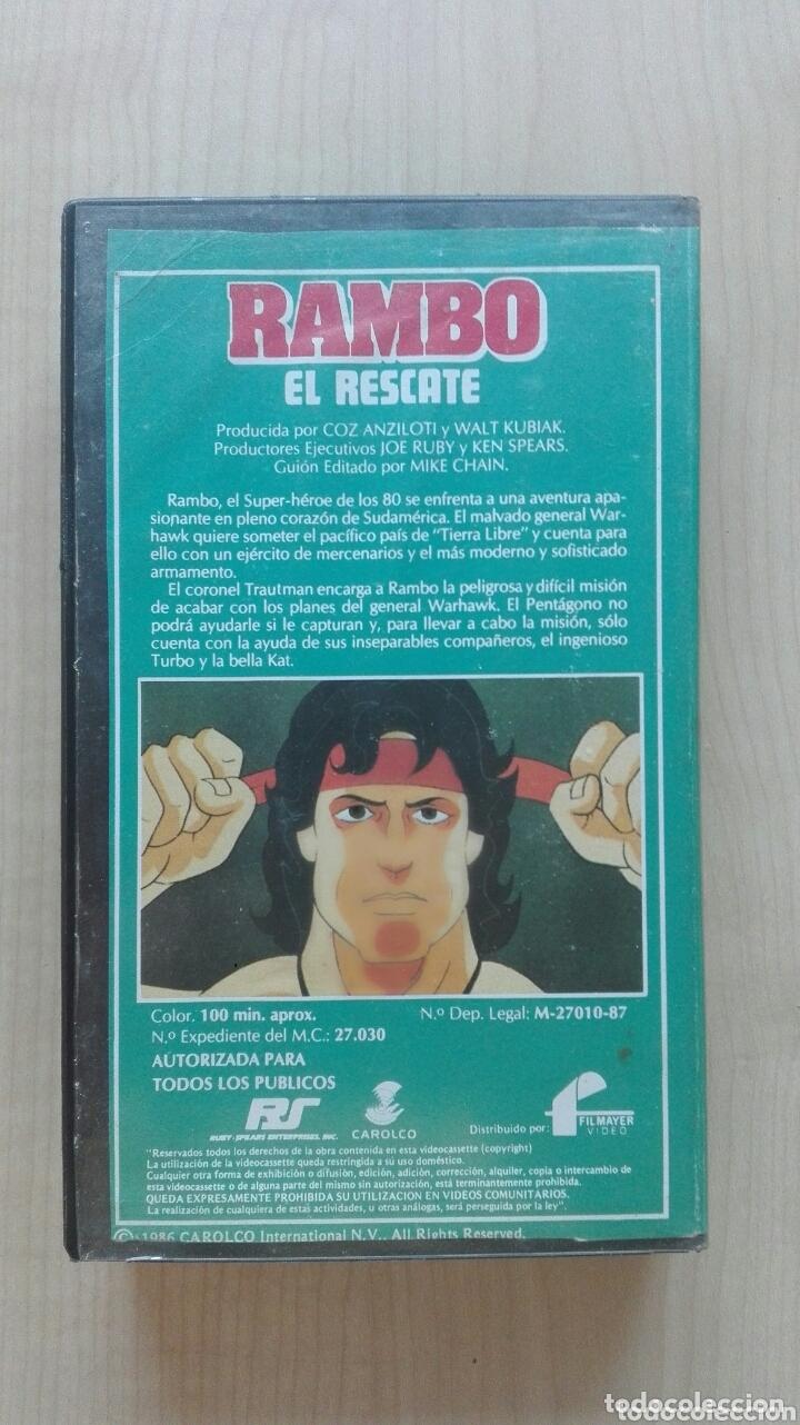 Cine: Cinta video VHS Rambo El Rescate Filmayer - Foto 2 - 173813439
