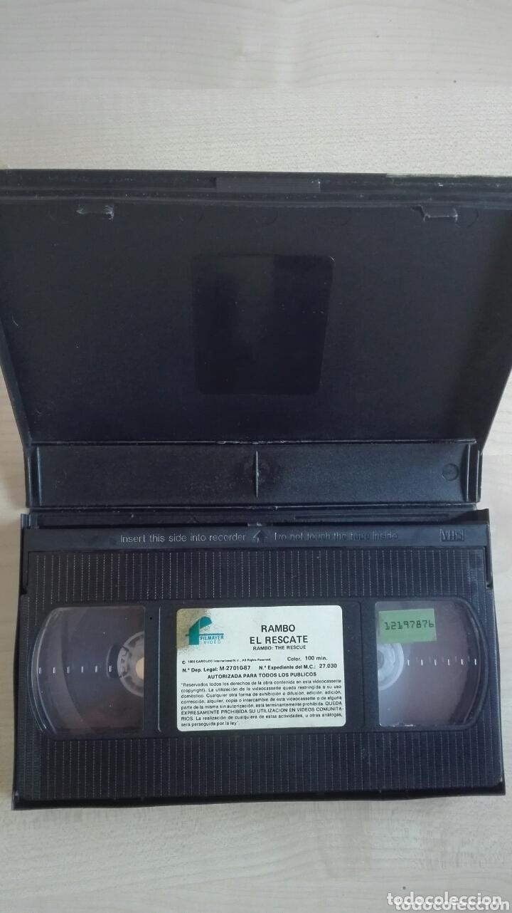 Cine: Cinta video VHS Rambo El Rescate Filmayer - Foto 3 - 173813439