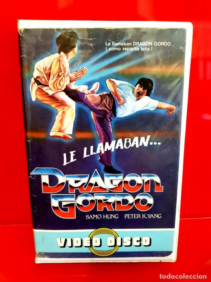 LE LLAMABAN DRAGON GORDO - SAMMO HUNG (1978) - EDIC. VIDEODISCO UNICA TC (Cine - Películas - VHS)