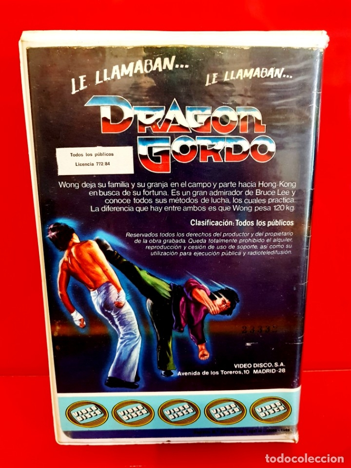 Cine: LE LLAMABAN DRAGON GORDO - SAMMO HUNG (1978) - EDIC. VIDEODISCO UNICA TC - Foto 2 - 173821262
