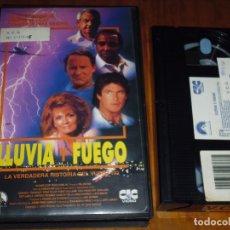 Cine: LLUVIA Y FUEGO . ANGIE DICKINSON , DAVID HASSELHOFF - VHS. Lote 173836483