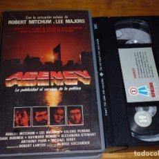 Cine: AGENCY - ROBERT MITCHUM - VHS . PEDIDO MINIMO 6 EUROS. Lote 173851644