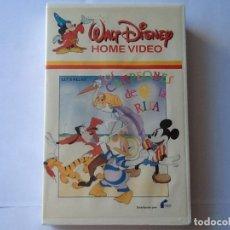 Cine: PELÍCULA WALT DISNEY. VHS, LOS CAMPEONES DE LA RISA. VARIOS CORTOS.PRIMERA EDICIÓN EN VIDEO.. Lote 173867702