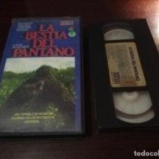 Cine: LA BESTIA DEL PANTANO VHS ORIGINAL TERROR. Lote 173899125