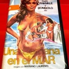 Cine: UNA SEMANA EN EL MAR (1981) - EDICIÓN INEDITA DE VIDEOCLUB VALFER EN TC. Lote 174194480